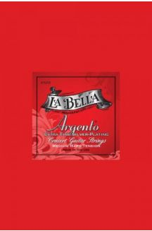 LA BELLA ARGENTO CORDIERA CLASSICA PLACCATA IN ARGENTO MEDIUM HARD TENSION