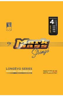 MARKBASS CORDIERA PER BASSO 4 CORDE LONGEVO SERIES NICKEL PLATED STEEL NANO-FILM SHIELDED STRINGS LONG LIVED 040 060 080 100