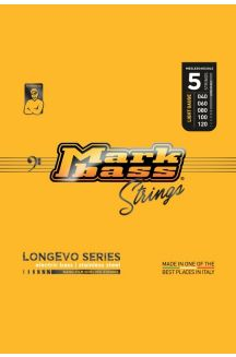 MARKBASS CORDIERA PER BASSO 5 CORDE LONGEVO SERIES STAINLESS STEEL NANO-FILM SHIELDED STRINGS LONG LIVED 040 060 080 100 120