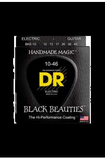 DR BKE-10 BLACK BEAUTIES CORDIERA RIVESTITA PER CHITARRA ELETTRICA 0.10/0.46
