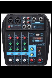 MIXER DIGITALE 4 CANALI CON USB E BLUETOOTH Q MINI